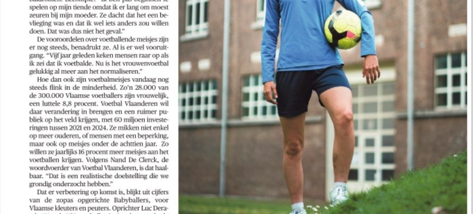 Voetbal Vlaanderen wil meer meisjes aan het voetballen krijgen